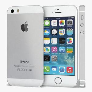 3d apple iphone 5s white model