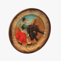 3d spain matador magnet souvenir