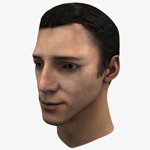 3ds max male head 2