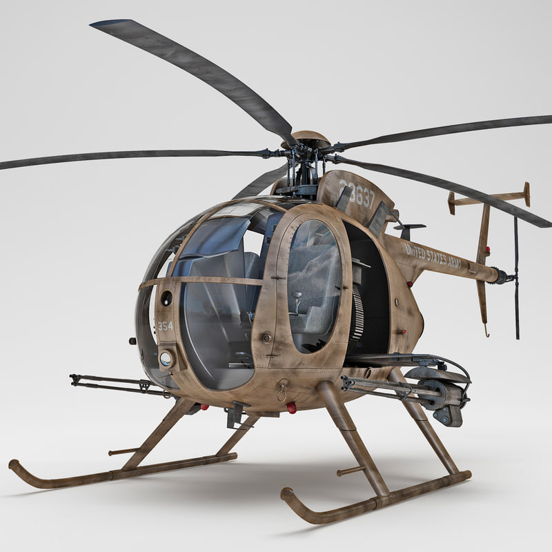 ah-6 little bird 2 3d model