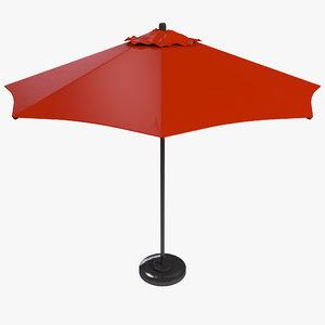 3d model commercial market umbrella