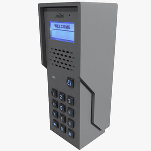 3d model doorking residential telephone entry door