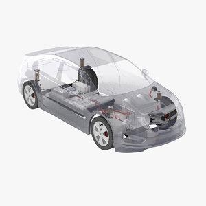 3d electric car x-ray