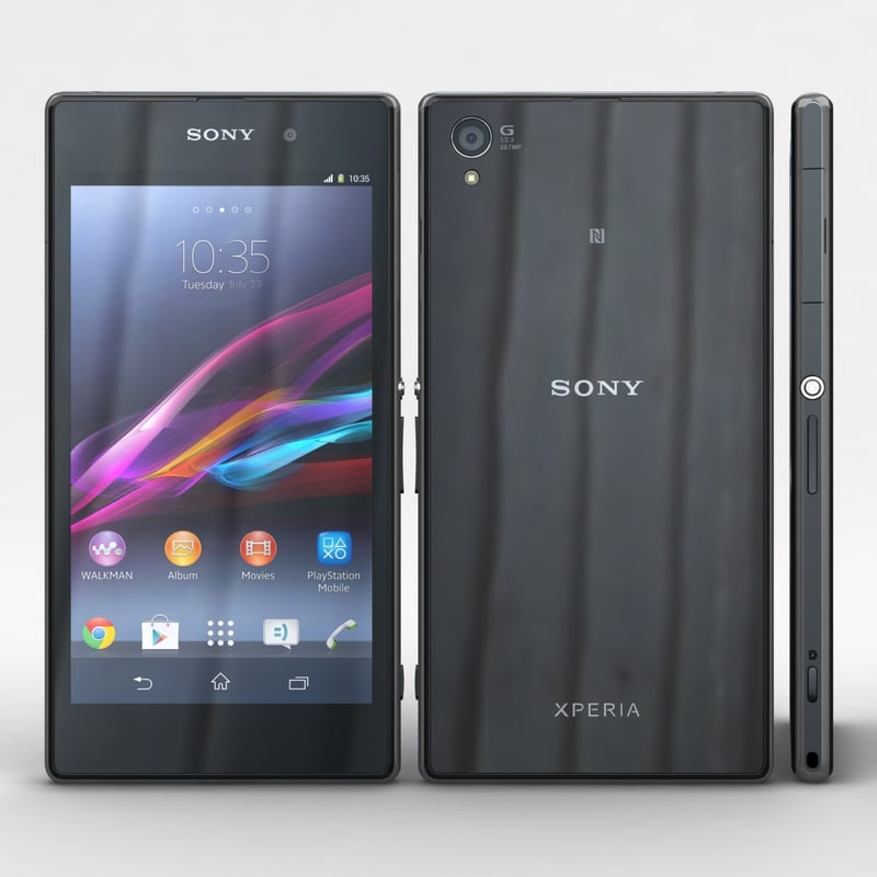3d sony xperia z1 black model