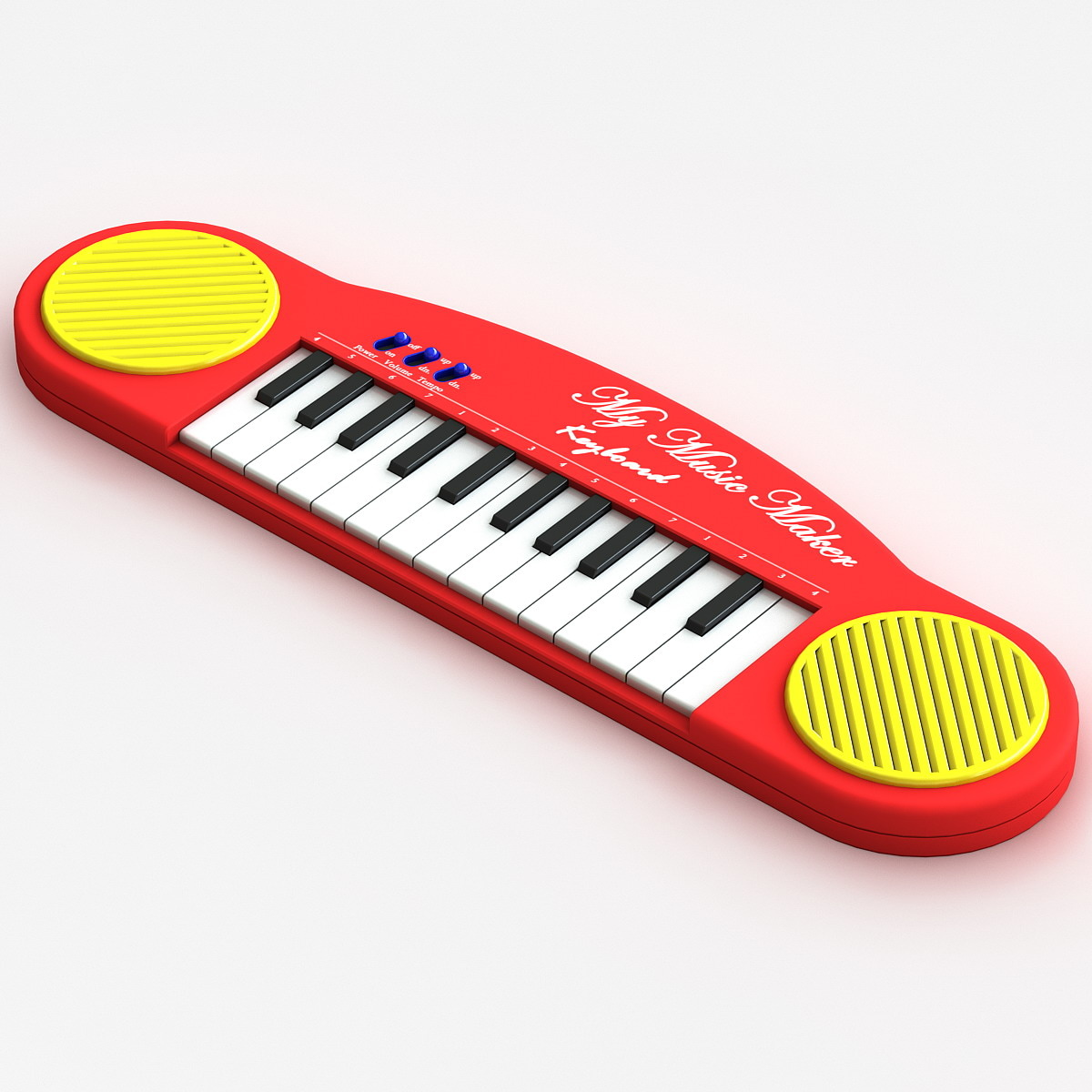 c4d electronics toy keyboard