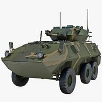 armoured fighting vehicle avgp 3d model
