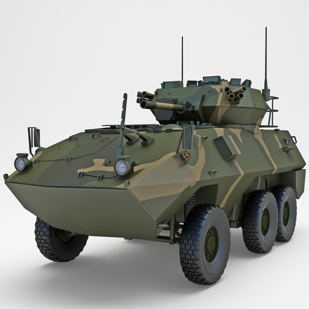 armoured fighting vehicle avgp 3d model
