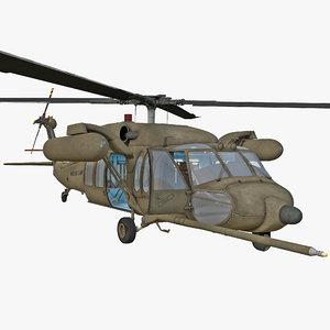 3d mh-60 black hawk rigged model