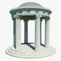 3d classical temple model