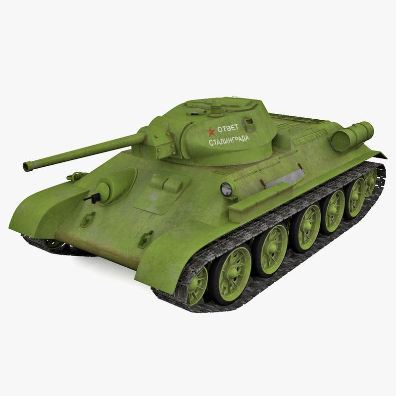 3d soviet t-34 tank