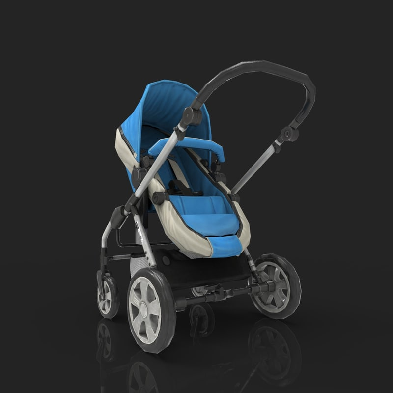 baby stroller 3d max