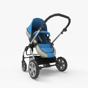 baby stroller 3d max