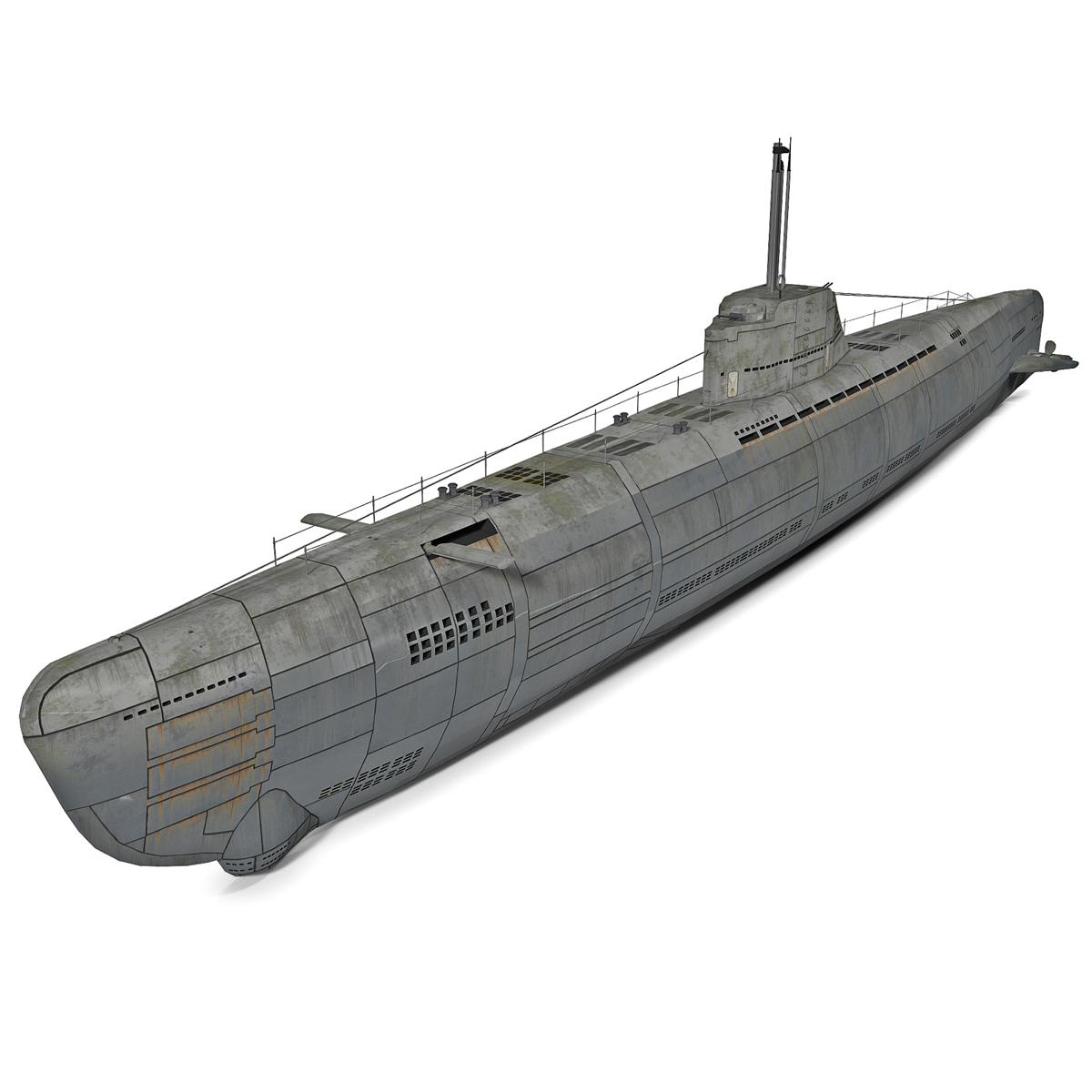german submarine wilhelm bauer 3d obj