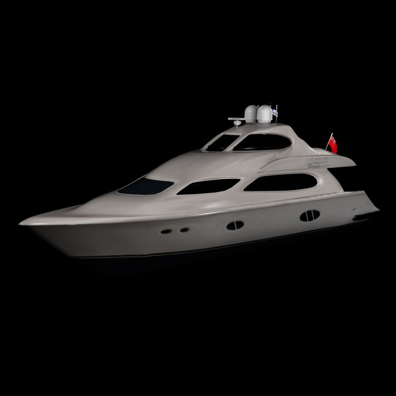 3d lazzara yacht 84 model