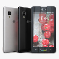 3d model lg optimus l5 ii