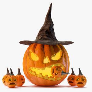 3ds max halloween pumpkin