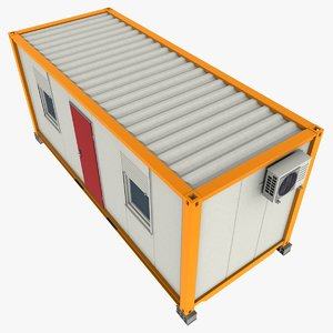 3dsmax 20ft office container