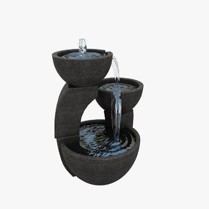 3d small fountain