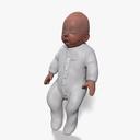 baby girl 3D models