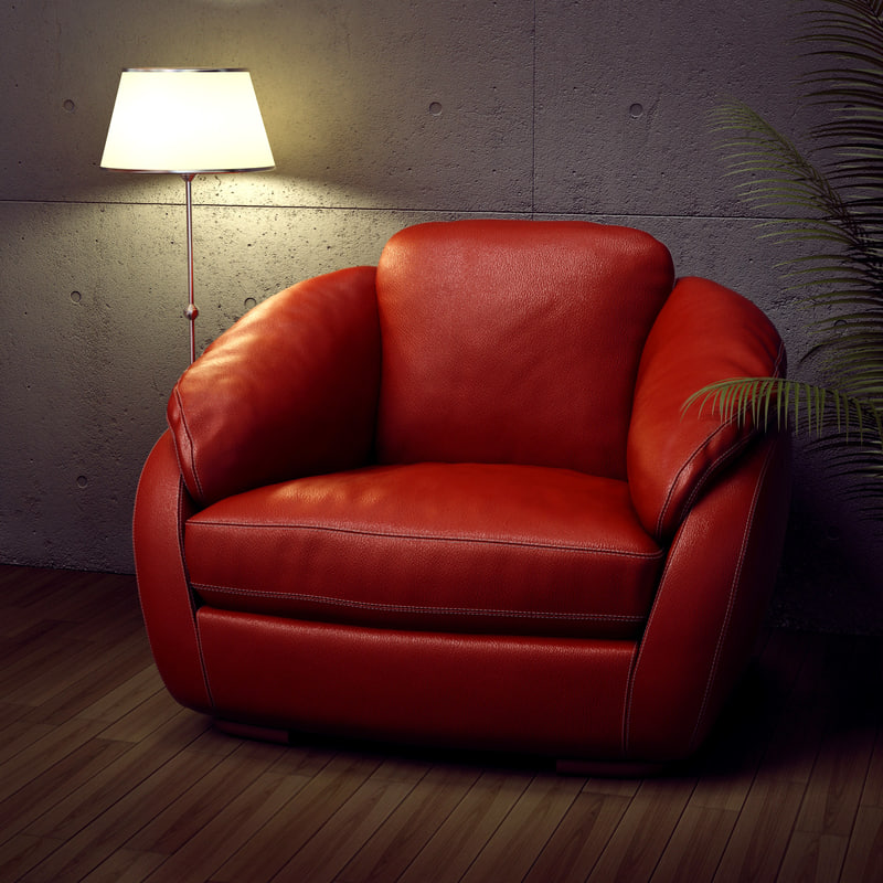 3d soft leather chair model