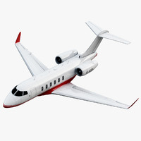 bombardier challenger 300 jet 3d max