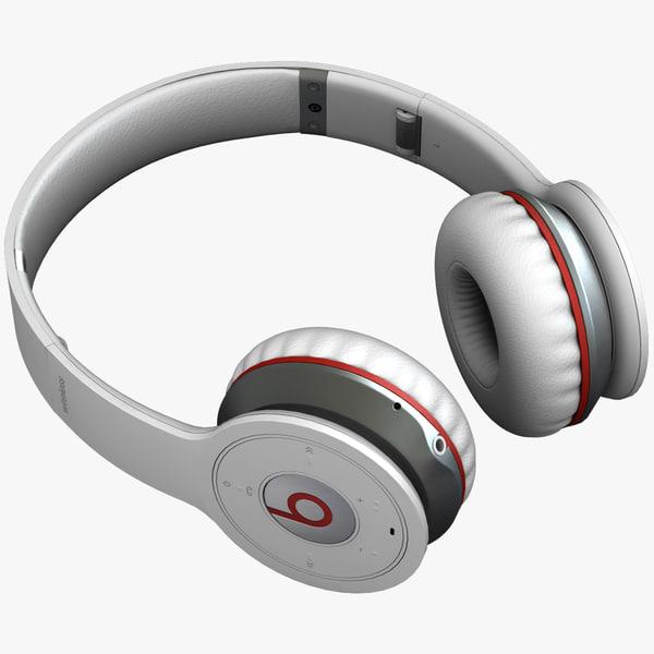 3d monster beats wireless headphones model