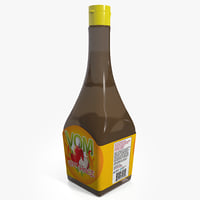 3dsmax bottle hot sauce