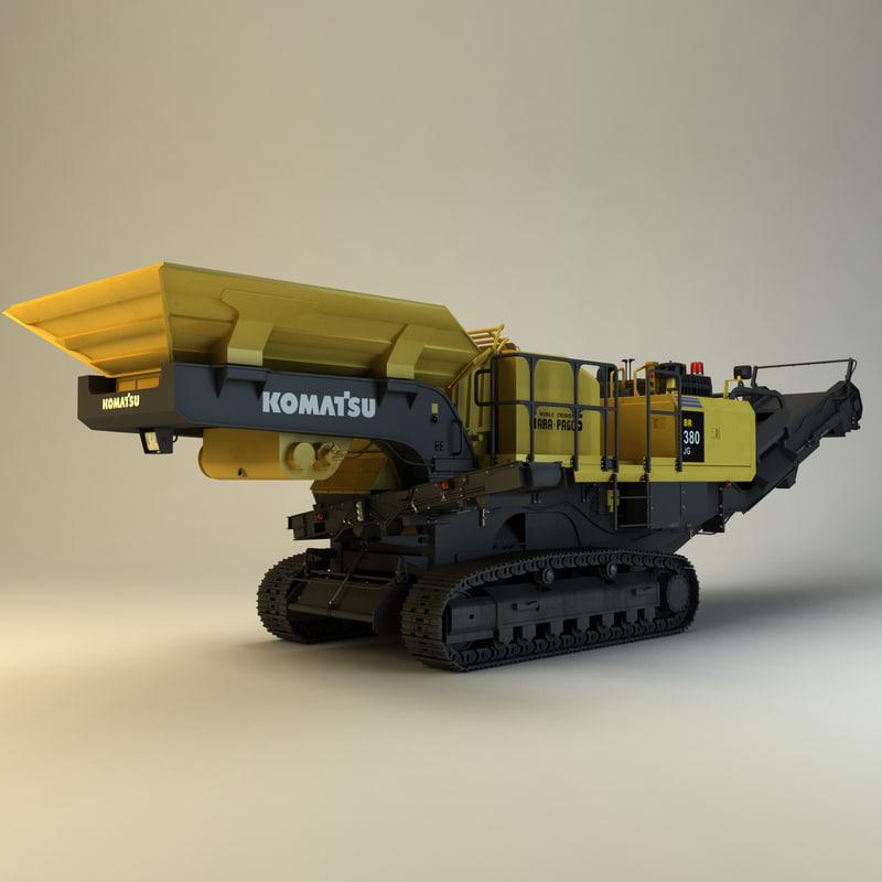 3d komatsu br380jg-1e0 model