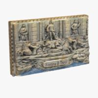 3d model rome italy magnet souvenir