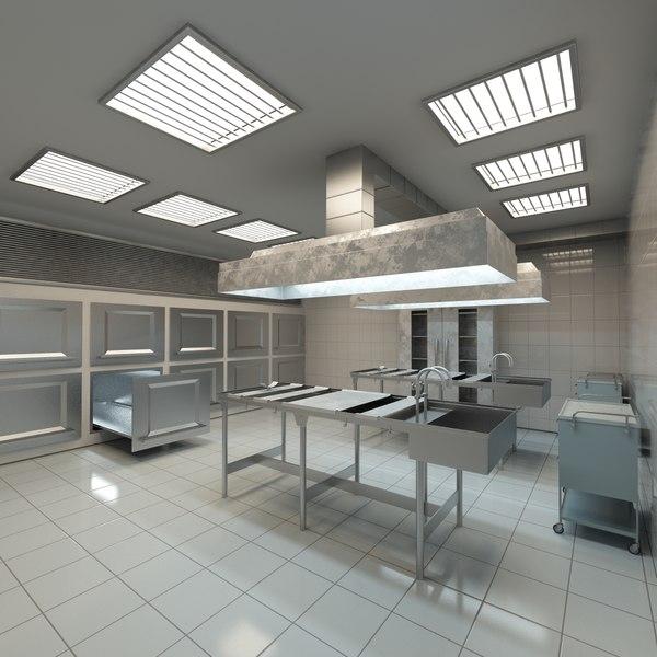 medical mortuary 3d model