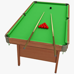snooker table powerglide executive 3d model
