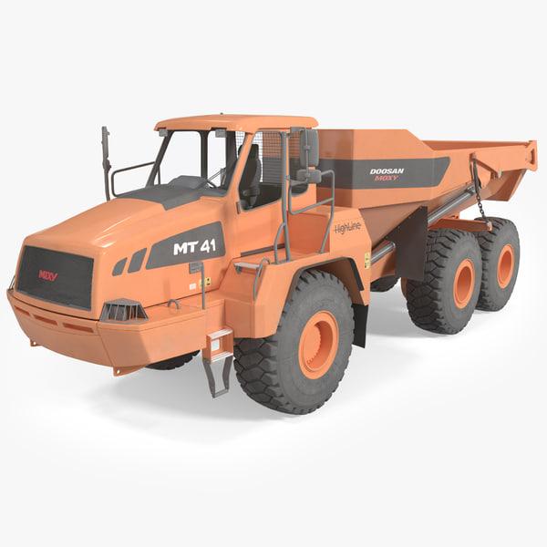 3d articulated truck doosan moxy