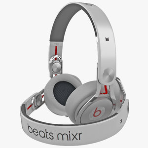 3d model headphones monster beats mixr