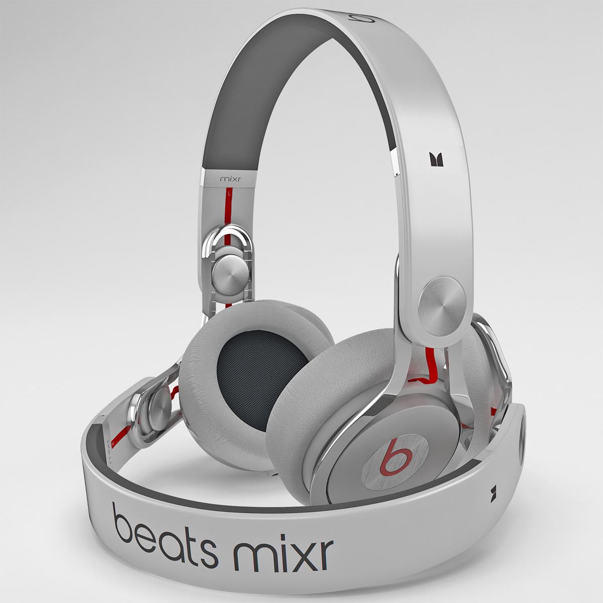 3d model headphones monster beats mixr