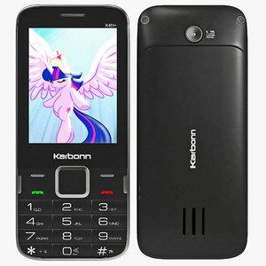 karbonn k451 wave cellphone 3d model