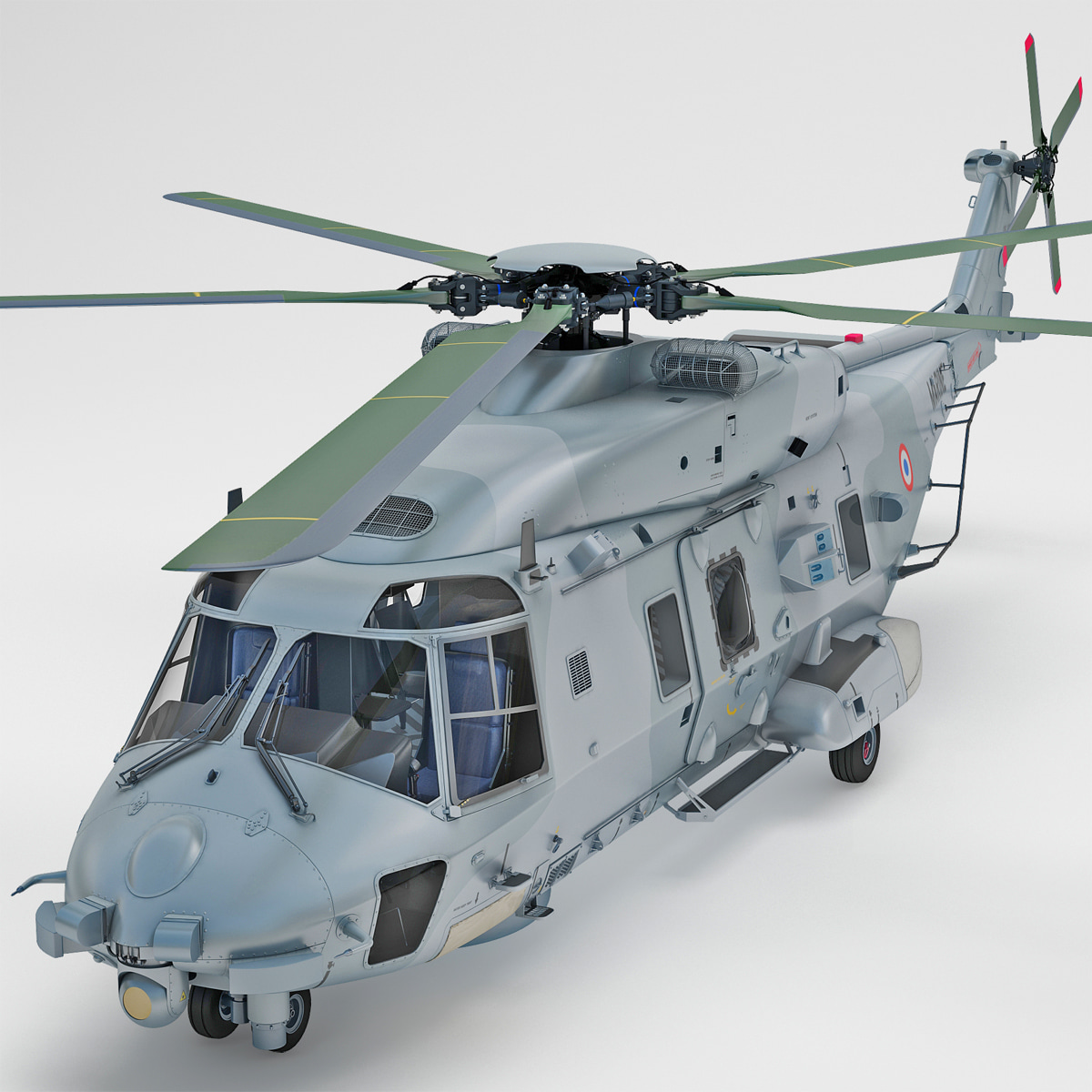3d model nhindustries nh90 military helicopter