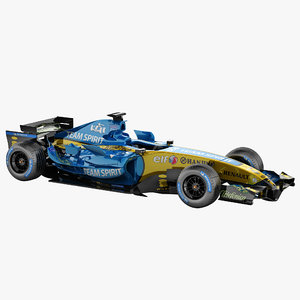renault f1 rigged car 3d max
