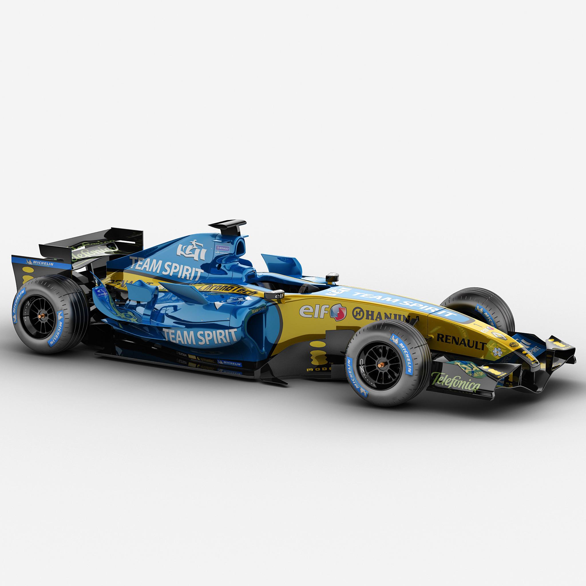renault f1 rigged car 3d max