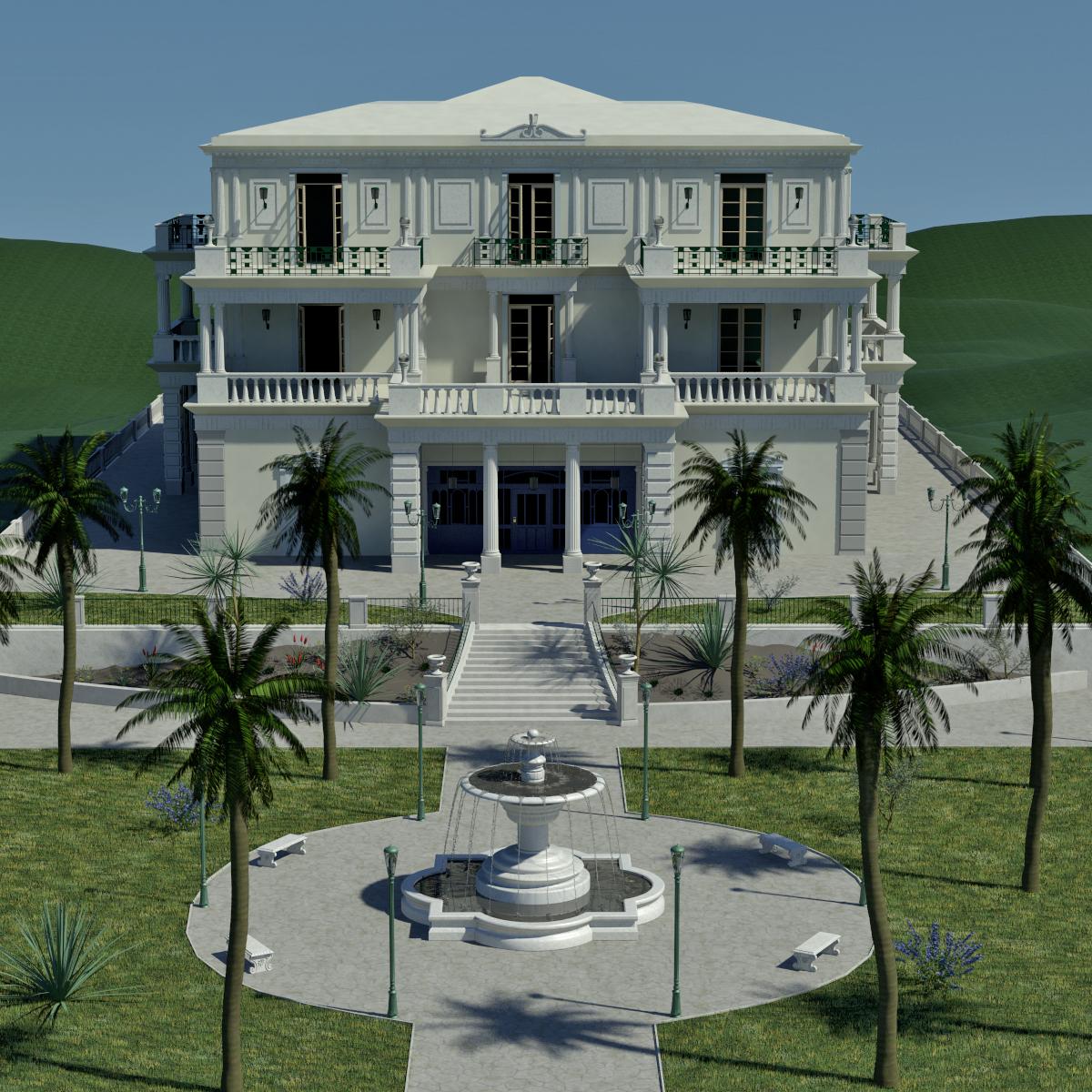 Palais et terrasse jardin
