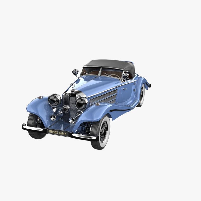 mercedes benz 540k special 3d max