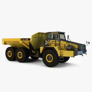 3d model komatsu dump truck