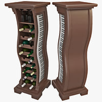 3d model of wine 5 rack