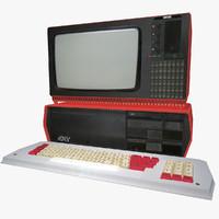 3d model soviet computer monitor