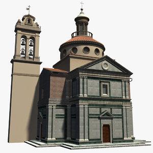 santa maria delle carceri 3d model