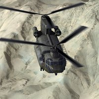 3d 3ds chinook hc4 helicopter
