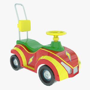 3d car toy seat model