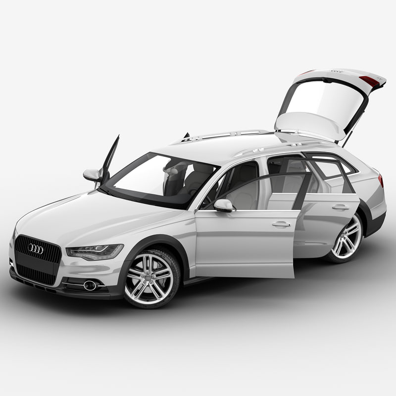 audi a6 2013 rigged car 3d max