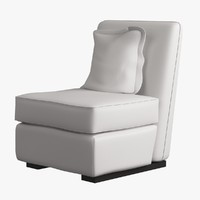 Chair Armless Furnished 007