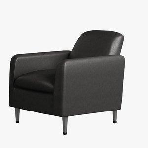 obj chair leather arm