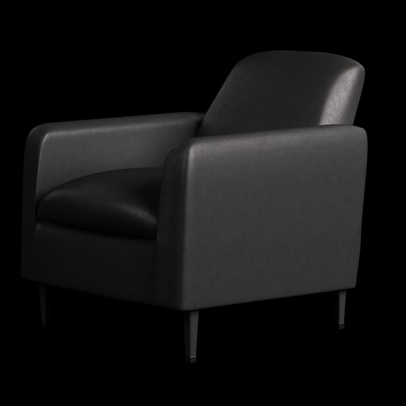 obj chair leather arm